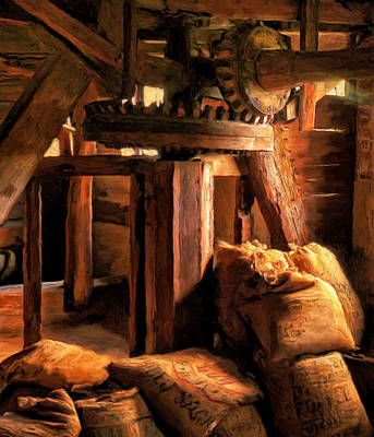 Inside The Old Mill Art Print by Michael Pickett
