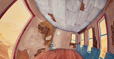 Schoolhouse Painting - Inside The Old School House IIi by Scott Kirby