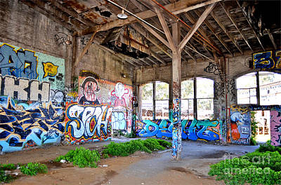 Photograph - Inside The Old Train Roundhouse At Bayshore Near San Francisco And The Cow Palace II by Jim Fitzpatrick