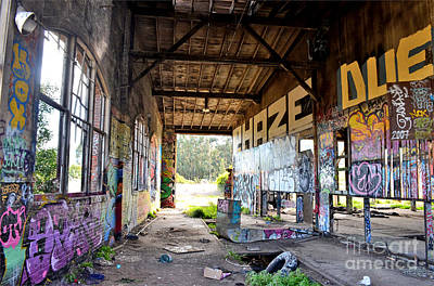 Photograph - Inside The Old Train Roundhouse At Bayshore Near San Francisco And The Cow Palace IIi by Jim Fitzpatrick