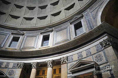 Photograph - Inside The Pantheon Of Rome by Brenda Kean