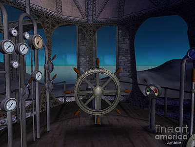 Art Print featuring the digital art Inside The Ship by Susanne Baumann