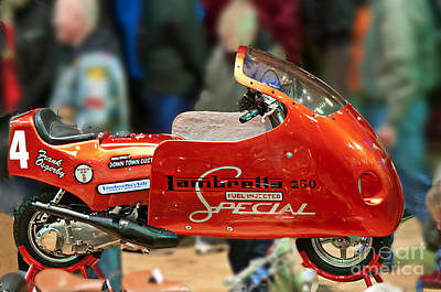 Colourfull Photograph - Inside The Spa Three  Fuel Injected Lambretta by David  Hollingworth