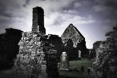 Photograph - Inside The Walls At Clare Abbey II by Nadalyn Larsen