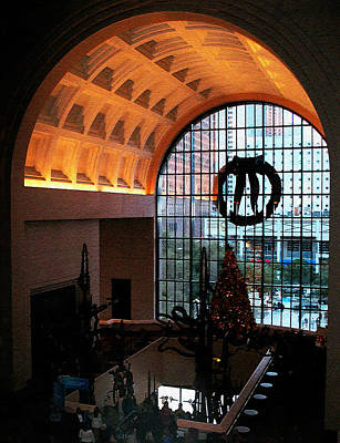 Photograph - Inside The Wortham At Christmas by Connie Fox