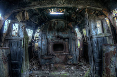 Digital Art - Inside Train 1 by Nathan Wright
