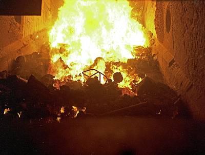 Kiln Photograph - Inside Waste Incineration Kiln by Dirk Wiersma