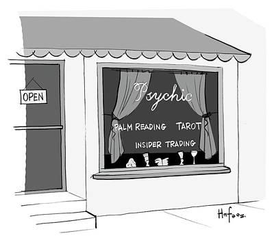 Tarot Drawing - Insider Trading by Kaamran Hafeez