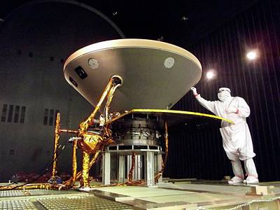 Space Exploration Photograph - Insight Mars Lander Testing by Nasa/jpl-caltech/lockheed Martin