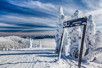 Ski Photograph - Inspiration by Aaron Aldrich