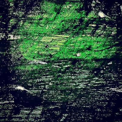 Acrylic Photograph - Abstract In Green by Jason Michael Roust