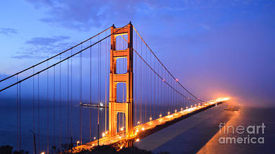 The Golden Gate Bridge Art Print by Along The Trail