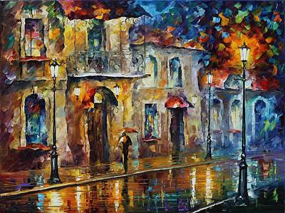 City Scape Painting - Inspiration Of Beauty - Palette Knife Oil Painting On Canvas By Leonid Afremov by Leonid Afremov