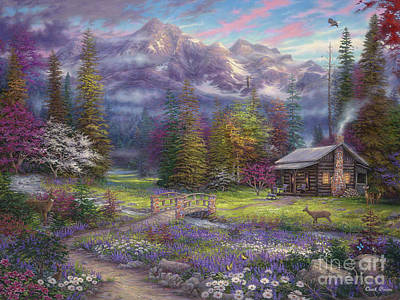 School Painting - Inspiration Of Spring Meadows by Chuck Pinson