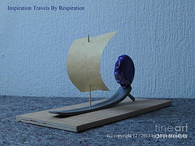 Mixed Media - Inspiration Travels By Respiration by Mojo Mendiola