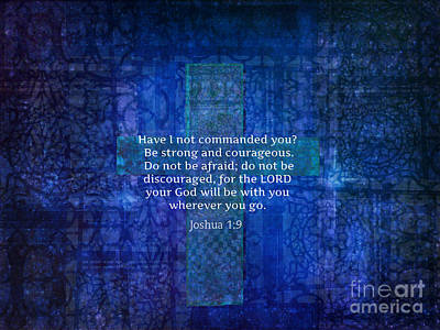 Inspirational Bible Verse About Strength  Art Print by Melodie Coast