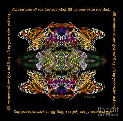 Digital Art - Inspirational Butterfly Reflections 02 - Monarch by E B Schmidt