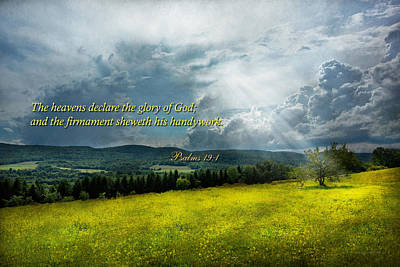 Photograph - Inspirational - Eternal Hope - Psalms 19-1 by Mike Savad