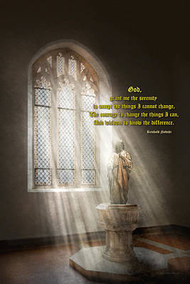 Photograph - Inspirational - Heavenly Father - Senrenity Prayer  by Mike Savad
