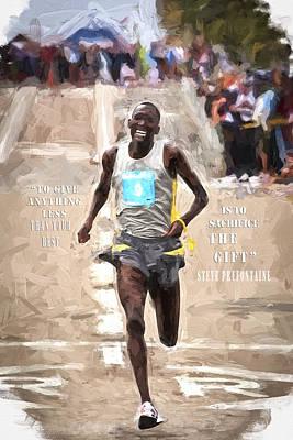 Jog Digital Art - Inspirational Runner by Vivian Frerichs