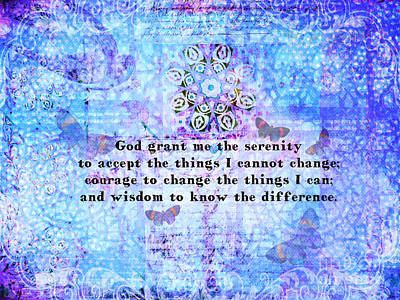 Inspirational Serenity Prayer Painting Art Print by Alley Costa