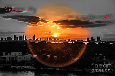 Photograph - Inspirational--summer Day On A Winters Night by Rene Triay Photography