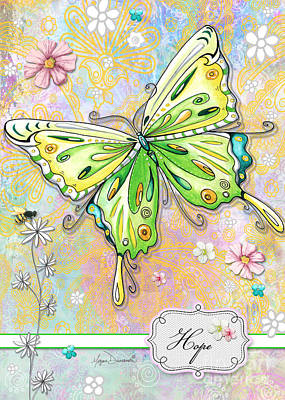 Blog Painting - Inspirational Uplifting Butterfly Floral Bee Elegant Art Hope By Megan Duncanson by Megan Duncanson