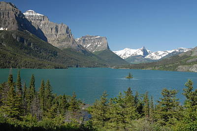 Inspiring View Of Glacier National Park Print by Larry Moloney