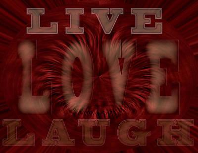 Laugh Painting - Inspiring Words by Georgeta Blanaru