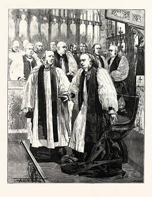 Installation Of The Archbishop Of York In York Minster Art Print