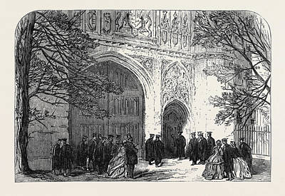 Installation Art Drawing - Installation Of The New Master Of Trinity College Cambridge by English School