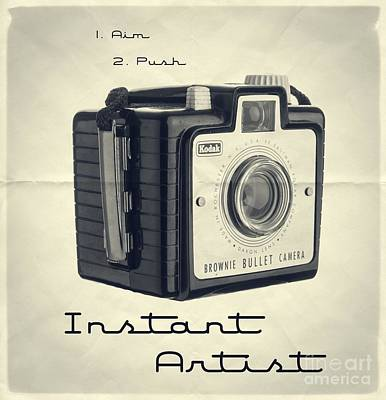 Brownie Photograph - Instant Artist by Edward Fielding
