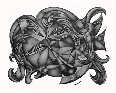 Suggestive Drawing - Instinctive Creations 107 by Lonnie Tapia