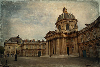 Library Digital Art - Institut De France  by Maria Angelica Maira