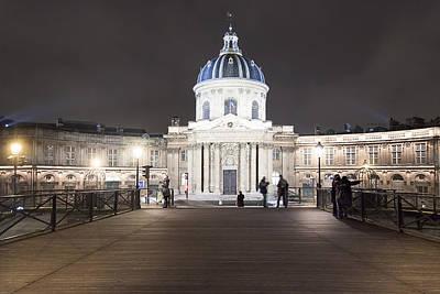 Unesco Photograph - Institut De France - Parisian Night Scene by Mark E Tisdale