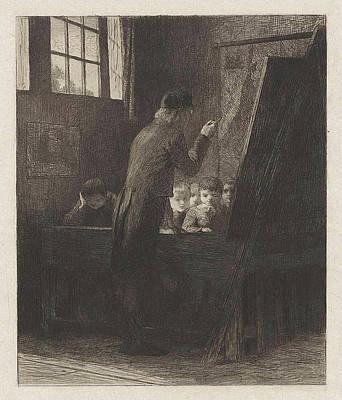 Instructor For The Class, Willem Steelink II Art Print