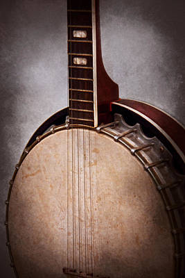 Musicians Photograph - Instrument - String - A Typical Banjo  by Mike Savad