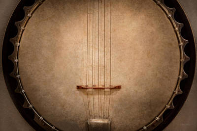 Photograph - Instrument - String - I Love Banjo's by Mike Savad