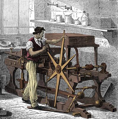 Intaglio, Copperplate Printing Press Art Print