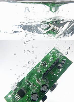 Integrated Circuit Underwater Art Print by Sami Sarkis