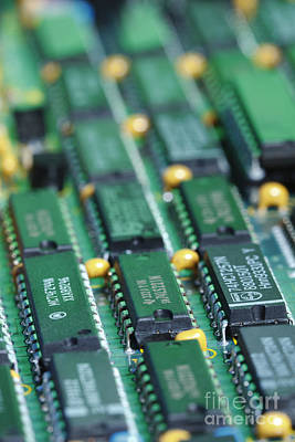 Integrated Photograph - Integrated Circuits by GIPhotoStock