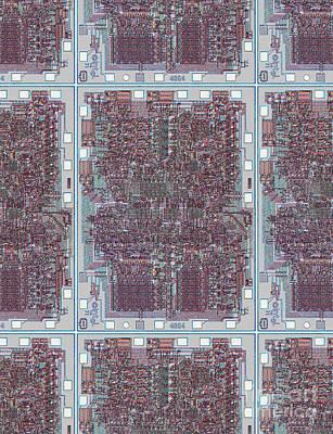Networking Digital Art - Intel 4004 - The Genesis by Steve Emery