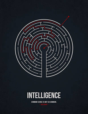 Distressed Drawing - Intelligence by Aged Pixel