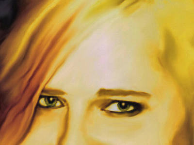 Portrait Study Mixed Media - Intense by Dennis Buckman