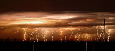Photograph - Intense Electrical Storm by John Dickinson