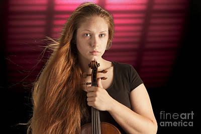 Photograph - Intense Violin Musician by M K Miller