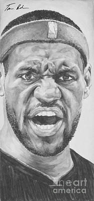 Intensity Lebron James Art Print by Tamir Barkan