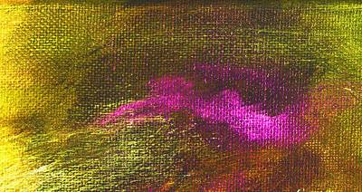 Intensity Yellow Pink Hue Art Print by L J Smith