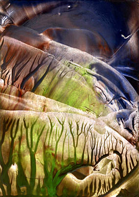 Beeswax Painting - Intensly Immersive Holow Light Flight by Cristina Handrabur