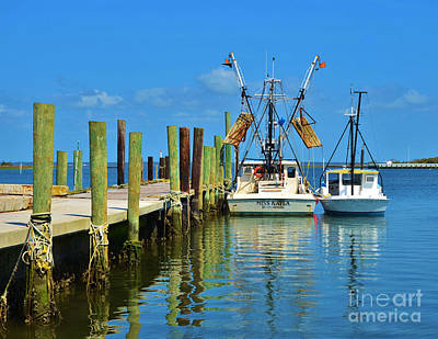 Photograph - Inter Coastal Shrimper by Bob Sample